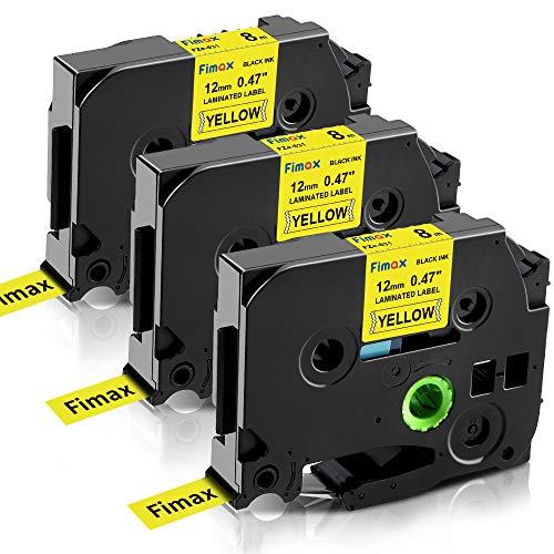 Nastro per Etichette Fimax Compatibile In sostituzione di Brother P-touch Laminato Tape Cassetta TZe-631 12mm per PT-H107B H105 H100LB H100R 1000 1010 P300BT H110