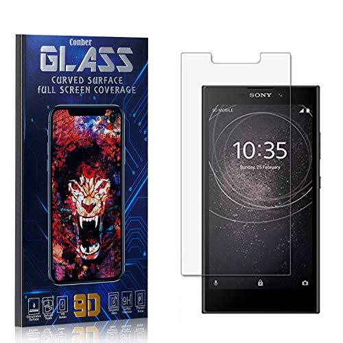 Conber Panzerglasfolie für Sony Xperia L2, [4 Stück] 9H gehärtes Glas, Blasenfrei, Kratzfest, Hülle Freundllich Hochwertiger Panzerglas Schutzfolie für Sony Xperia L2