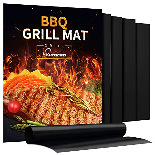 Aoocan 5 PC Non Stick Heavy Duty BBQ Grill Mats Set $11.59 (39% Off)