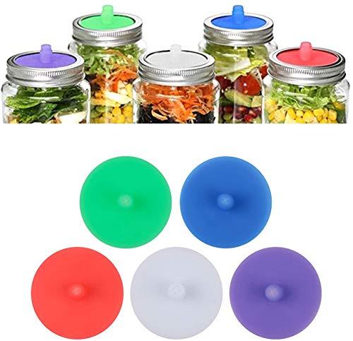 Silicone Fermenting Lids, Waterless Airlock Fermentation Mason Jar...