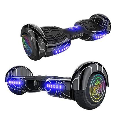 Electric Hoverboard Smart Self Balancing Scooter Hover Board 6.5'' Wheel Electric Scooter for Adults and Kids (Spider-Dark)