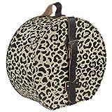 Sombreroshop Caja para Sombrero Leopardo sombrerera (Talla única - Beige)
