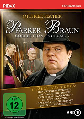 Pfarrer Braun Collection, Vol. 2 / Weitere sechs Folgen der Krimireihe mit Ottfried Fischer (Pidax Film-Klassiker) [3 DVDs]