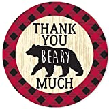 Lumberjack Plaid Thank You Beary Much Party...