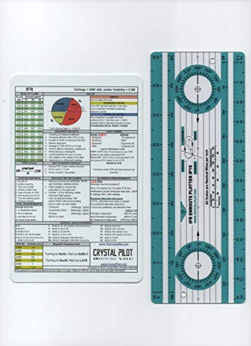 Crystal Pilot IP15 Enroute Plotter and Medium sized IFR-VFR Placard
