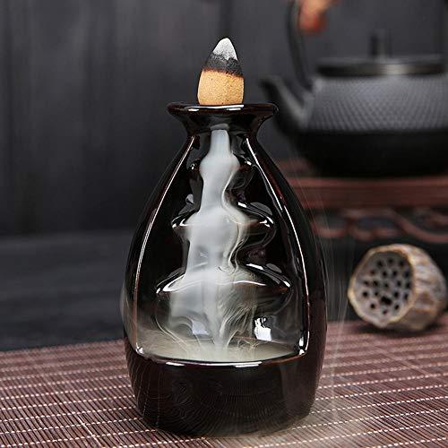 Starbun Quemador de Incienso - Titular de cerámica del Esmalte de la hornilla de Incienso Conos Párese Reflujo incensario Inicio