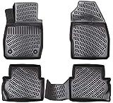 Elmasline Juego de alfombrillas de goma 3D para Ford Puma (II) a partir de 2019, borde extra alto de 5 cm.