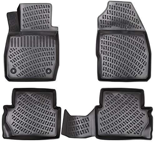 Elmasline Design 3D Gummimatten Set für Ford Puma (II) ab 2019 | Extra hoher 5cm Rand