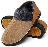 Mishansha Zapatillas Hombre Invierno Cálido y Confortable Pantuflas Espuma Viscoelástica Zapatos de Casa Antideslizante Adular Gr.44