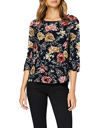 ONLY Damen Onlnova Life 3/4 Sleeve TOP AOP WVN 5 Bluse, Night Sky, 36