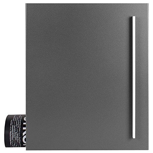 Design-Briefkasten mit Zeitungsfach 12 Liter grau-aluminium (RAL 9007) MOCAVI Box 110 Wandbriefkasten Postkasten