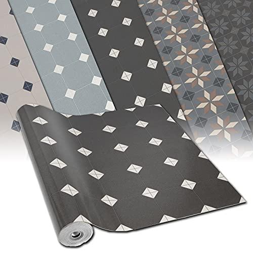 CV Bodenbelag Retrotex Avondale 990M - Retro Fliesen-Optik mit ansprechendem Muster - extra abriebfester PVC Bodenbelag (geschäumt) - Oberfläche strukturiert - Meterware (100x100 cm)