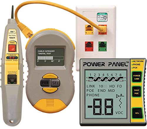 Triplett Byte Brothers Testing Kit with Real World Certifier Ethernet Cable Category Verifier / COAX Tester and Power Panel CAT 5/6 Digital Voltmeter (CPK1000IL2)