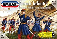 50 Soldats Echelle : 1/72 French infantry and Franco Prussian Emhar EM7211