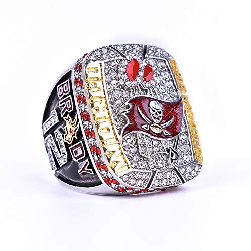 BDCYZHYQ 2021 Super Bowl Championship Rings, Buccaneers Fans, Tampa Bay Fans, Best Gifts for Father, Boy Friend (12)