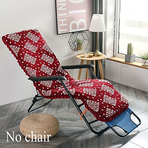 HANHAN Coussin de chaise longue amovible avec housse supérieure pour chaise longue, canapé, chaise longue 160x52cm Rouge