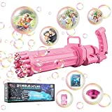 Royal Junior Bubble Gun 3000 Blaster. Gatling Bubble Machine Gun Toy with 3000 Bubbles for Kids Per Minute. Bubble Guns for Kids, Bubble Toys, Bubble Blower, Bubble Maker with Solution Refill. (Pink)
