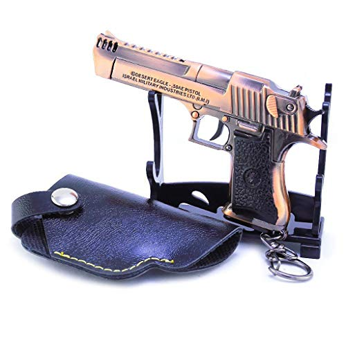 1/3 Escala del Ejército Militar Miniatura Mini Llavero Águila Desierto Pistolas de Metal Modelo Pistola Figura Accesorios Juguete Die Cast Decoración Juguetes