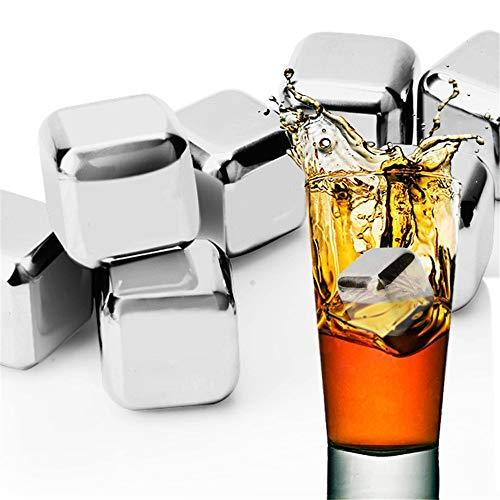 LiChaoWen Beste whisky koelstenen met de Ice Box creatieve benodigdheden geweldig cadeau roestvrij staal ijs bevroren drinken Whiskey ijs patronen