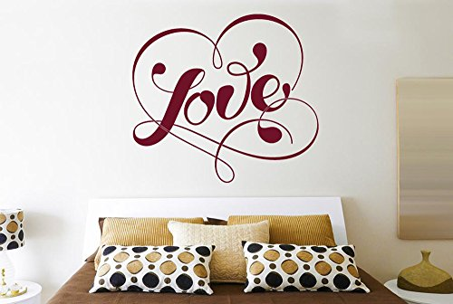 Love Within Fancy Heart Wall Stickers And Art Decals -...