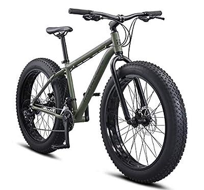 Mongoose Argus Trail Adult Fat Tire Mountain Bike, 26-Inch Wheels, Medium 18-Inch Aluminum Hardtail Frame, Mechanical Disc Brakes, 2x8 Drivetrain, Rapid Fire Shifters, Green