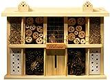 Insektenhotel Bausatz Landsitz Superior mit 10 Zimmern für Wildbienen, 47 x 12,5 x 34 cm, Kiefer, 22640e