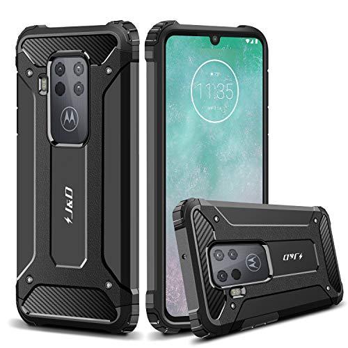 J&D Compatible para Motorola One Zoom Funda, Protección Pesada [Armadura Delgada] [Doble Capa] Híbrida…