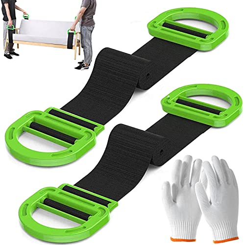 Lifting and Moving Straps, Adjustable Lifting Straps for Movers with...
