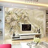 Fototapete Diamant goldene Blume Moderne Wanddeko Design Tapete Wandtapete Wand Dekoratio TV Hintergrundwand 450x300 cm
