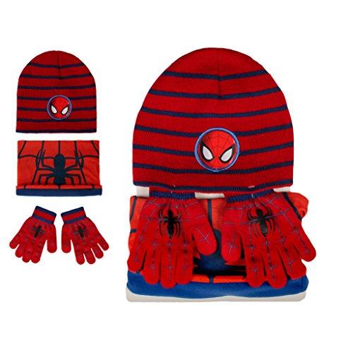 Marvel Set Invernale Cappello, Scaldacollo e Guanti Spider-Man