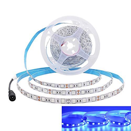 JOYLIT Striscia LED Blu SMD 5050 300 LEDs IP20 Non impermeabile 5 metri DC 12V di altezza striscia di led per decorazione di armadio da cucina, camera da letto