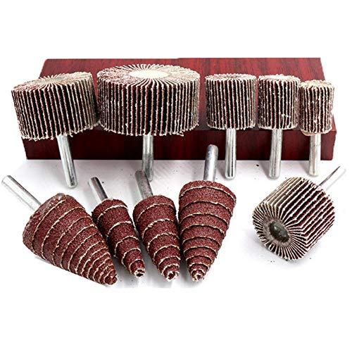 2 stuks 6 mm schacht cone imeller schuurpapier schuurkop klep wiel doorn voor boormachine polijsten slijpkop gereedschap mesh 80