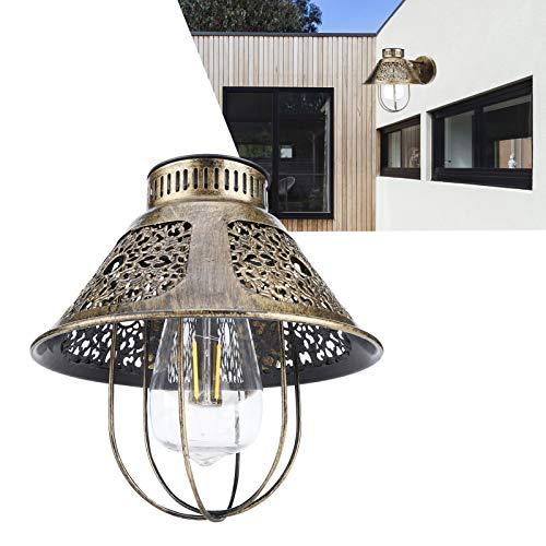 Lámpara de jardín, lámpara de pared, material de hierro, estructura duradera, batería recargable, patios para acampar, pabellones, jardines