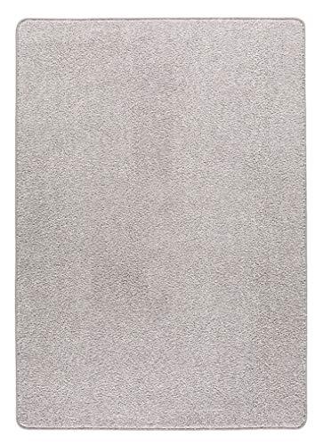 misento Alfombra Shaggy de Pelo Largo para salón, sin sustancias nocivas, 100% Polipropileno, Color Plata, 100 x 150 cm