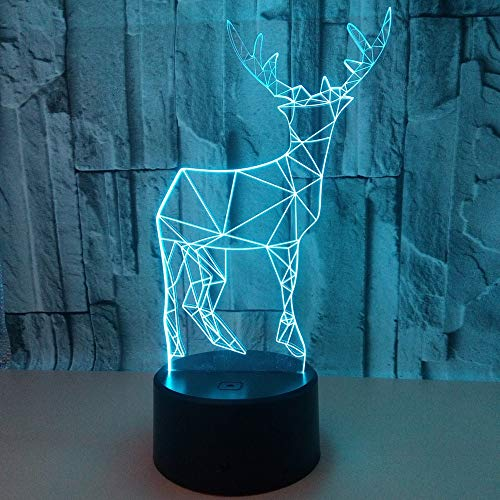KoTag Deer 3D Illusion Birthday Gift Lamp 7 Color Change Decor Lamp with Remote Control Idea for Kids Room Décor Or Birthday Gifts Creative LED Night Light – Best Living Room, Bathroom, Hallway Light