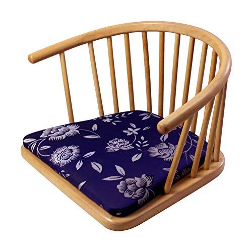 XY&YD houten stoel zonder been leuning met rugsteun, Japanse Tatami vloerstoel dikke PU stoel kussen Lazy sofa lounge bedstoel
