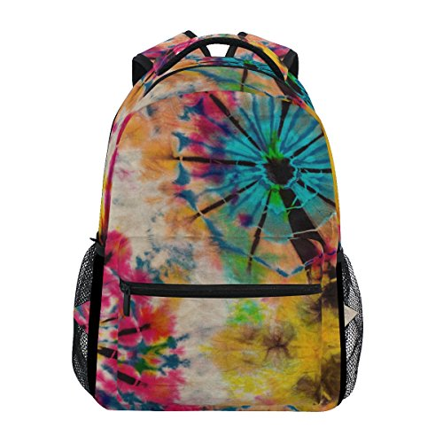 ZZKKO Tribal Ethnic Tie Dye Boys Girls School Computer Backpacks Book Bag Travel Hiking Camping Daypack