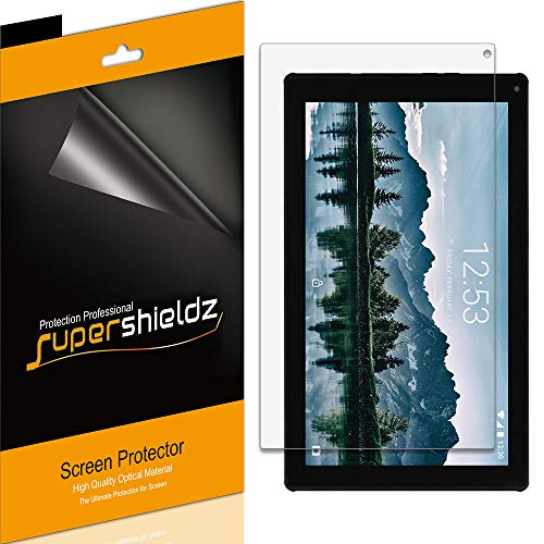 (3 Pack) Supershieldz for Ematic 10.1 inch Quad Core Tablet (EGQ235SK) Screen Protector, High Definition Clear Shield (PET)