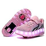 YSTHEZ Zapatos de Fitness de niñas, Zapatillas Ligeras con niños de Dos...
