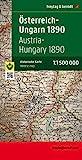 Freytag Berndt Monarchiekarte, Österreich - Ungarn 1890, 1:1.500.000