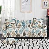 ASCV Afervor Europe Style Stretch Sofabezug Tight Wrap Universal Elastischer Couchbezug für Einzel-Doppel-DREI-Sitzer-Sofa A4 3-Sitzer