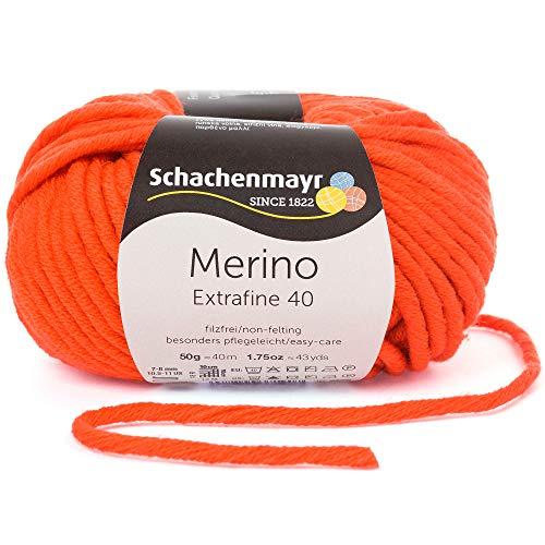 Schachenmayr Merino Extrafine 40 9807555-00325 orange Handstrickgarn, Schurwolle