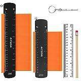 Contour Gauge with Lock, Contour Gauge Profile Tool, Contour Gauge Duplicator 5'' and 10'', 2 Pack Measure Copy Tool & Home Improvement