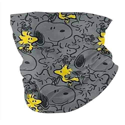 LDCREE Snoopy Sports Riding Ma-sk Headwear Face Scarf Cover Unisex al aire libre Diadema turbante cuello funda resistente al viento protección solar sin costuras Bandana 50 x 25 cm
