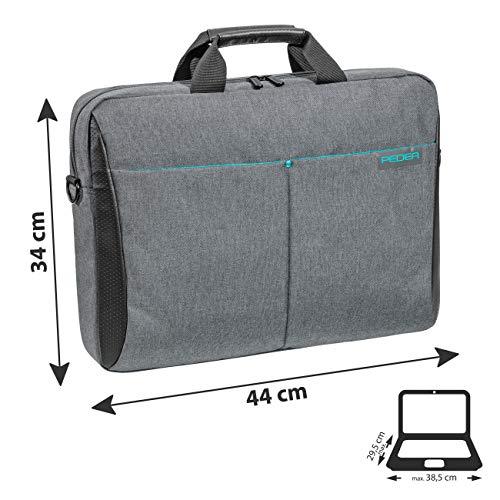 Pedea Laptoptasche Lifestyle Notebook-Tasche bis 15,6 Zoll (39,6 cm) Umhängetasche mit Schultergurt, Grau