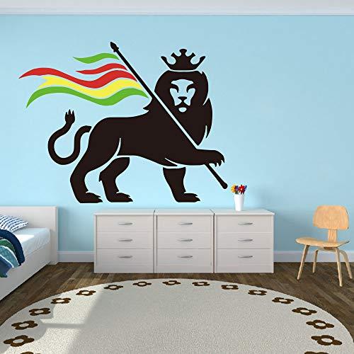 hetingyue zelfklevende leeuwenwand voor laptop, slaapkamer, leeuwroon