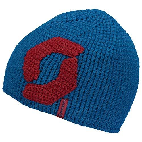 Scott M Team 20 Beanie Blau-Rot, Herren Mütze, Größe One Size - Farbe Mykonos Blue - Biking Red