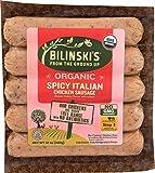 Bilinski, Organic Spicy Italian Chicken Sausage, 12 Ounce