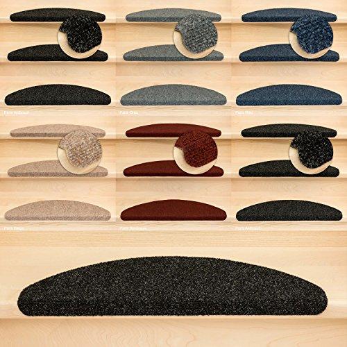 Kettelservice-Metzker Stufenmatten Ramon MW Halbrund | in verschiedenen Set Varianten | 65x21x3,5cm | Anthrazit 12 Stück