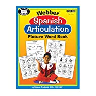 Webber Spanish Articulation Picture Word Book for 18 Sounds - 1728 Picture Words!